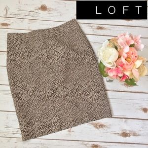 LOFT | Cheetah Pencil Skirt Size Petite 0